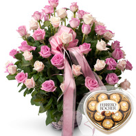 비올드꽃바구니+초콜릿
